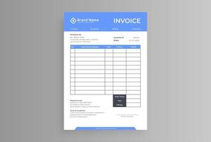 two color business invoice with header vector