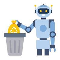Robotic Waste and Trash vector