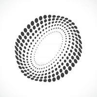 Abstract vector circle frame halftone dots logo emblem design.