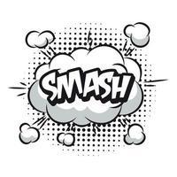 vector smash bubble cloud effect graphic design