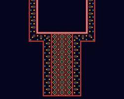 Geometric ethnic oriental pattern. Necklace embroidery design. vector