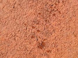 óxido formado por una fractura natural de la muestra de color marrón en la superficie foto