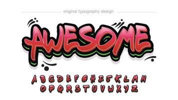 tipografía de graffiti moderno negrita roja vector