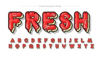 red and yellow dripping uppercase typography vector