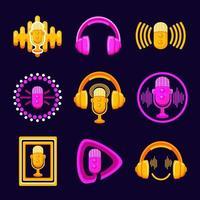 icono de podcast simple vector