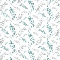 plant vector seamless pattern