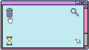Kawaii Retro PC Desktop Screen Icons video