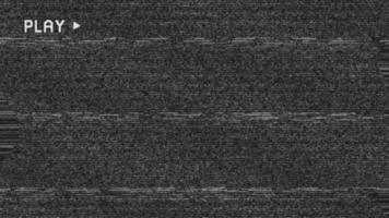 sovrapposizione di introduzione glitch dello schermo di riproduzione di vhs retrò video