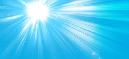 Sun rays in a blue sky, Paradise photo