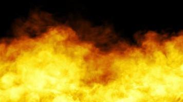 projeto de fogo em fundo preto. fechar-se video