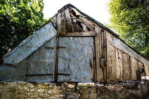 Old wooden farmhouse photo