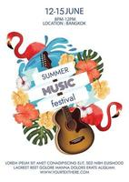 summer party music festival poster vector