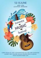 music festival party poster vector