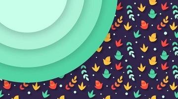 Autumn leaves background illustration vector
