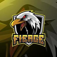 Eagle esport mascot logo design vector