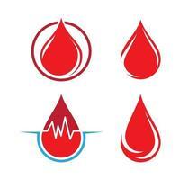 Blood drop logo images vector