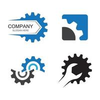Gear service logo images vector