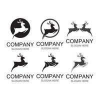 Deer logo images illustration vector