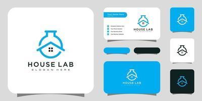 House lab home laboratory logo vector