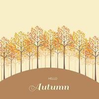 Colorful tree on autumn or fall background vector