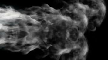 Smoke Design on Black Background video