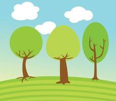 Tree Landscape illustration vector