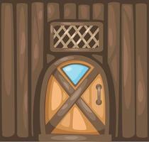 Door  illustration on white background vector