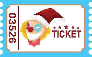 Illustration of isolated ticket circus clown vector