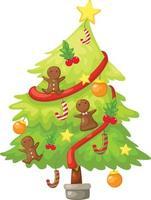 Tree christmas illustration vector