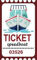 Illustration of isolated ticket speed boat vector