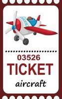 Ilustración de avión de billete aislado vector