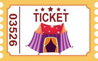 Illustration of isolated ticket circus tent vector