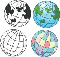 Globe icon set illustration vector