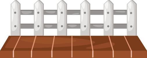 Wooden fence illustration vector