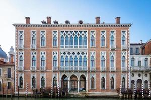 300 years old venetian palace facade from Canal Grande photo