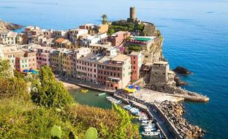 Vernazza in Cinque Terre, Italy - Summer 2016 - view from the hill photo