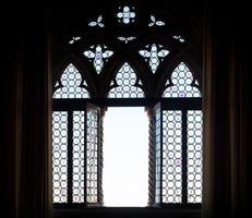 Medieval window silhouette photo