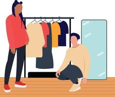 women and men are learning to be fashion models vector