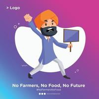 Banner design of a Punjabi man is angry and holding signboard in hand vector
