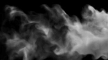 Burst Smoke Design on Black Background video