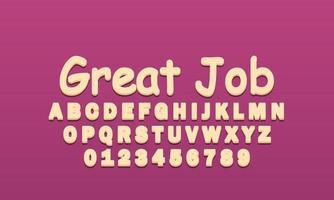 great job font alphabet vector