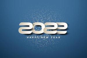 2022 con números blancos simples. vector