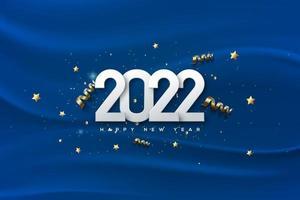 feliz año nuevo 2022 con fondo de textura. vector