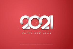 2022 con los números superpuestos entre sí. vector