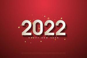 feliz año nuevo 2022 con números 3d. vector