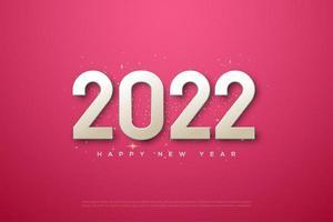 2022 año nuevo con un diseño sencillo. vector