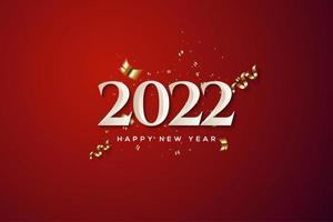 2022 con diseño de lujo. vector