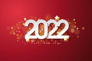 feliz año nuevo 2022 con un magnífico efecto bokeh. vector