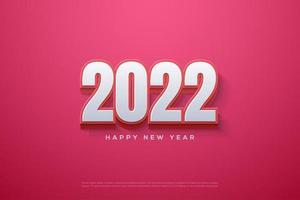 feliz año nuevo 2022 con números estallando. vector