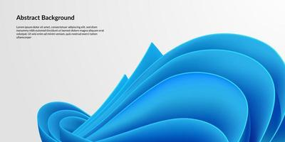 Modern blue paper quill background update vector